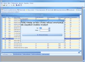 Program środki trwałe - Miesięczna aktualizacja amortyzacji