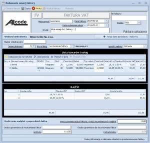 Fakturowanie - Przykład tworzenia faktury VAT