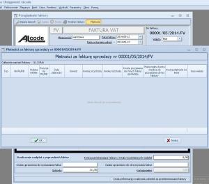 Fakturowanie - Lista płatności za fakturę