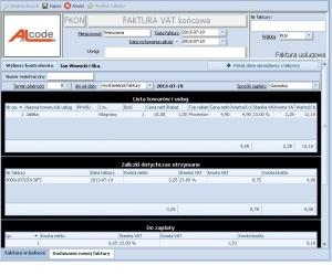 Fakturowanie - Faktura końcowa wystawiana do faktur/faktury zaliczkowej