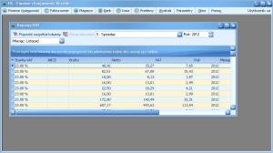 Program księgowy - Wykaz rejestrów VAT