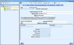 Program księgowy - Struktura organizacyjna firmy
