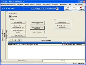 Program kadrowo płacowy - Kartoteka danych osobowych